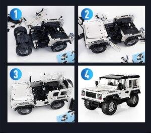 Image 5 - تكنيك سلسلة 553 قطعة المدافع RC نموذج سيارة SUV لتقوم بها بنفسك بنة ألعاب مكعبات السيارات للأطفال متوافق