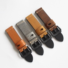 Cowhide 20/22MM Handmade Retro Leather Watch Strap Suitable Semen Sterculiae Lychnophorae Leather Watch Strap uyoung handmade watch strap custom fit the fat sea pa441 watch retro make old ox leather watch belt male
