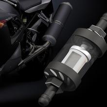 Universal 8mm CNC filtro de aceite para motocicleta de combustible de Gas gasolina Quad de aleación de aluminio de vidrio accesorios de motocicleta Dirt Pit bicicleta Motocross