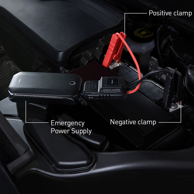 lowest price Baseus 8000A Car Jump Starter Battery Power Bank High Capacity Starting Device Booster Auto Vehicle Emergency Battery Booster
