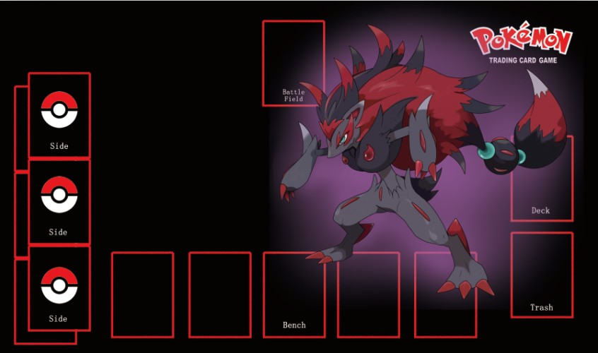 Takara Tomy PTCG Accessories Pokemon Card Board Game Playmat Zoroark Toys For Children
