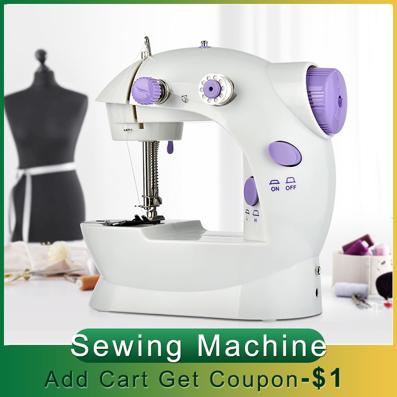 Электрическая швейная машина, ручное мини-швейное приспособление, домашняя ручная машинка для шитья, регулируемая скорость, швейные машины
