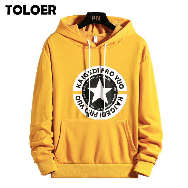 Men's Patchwork Hooded Sweatshirt Men Hip Hop Letter Printed Skinny Streetwear Male Fashion Full-length Hoodies Clothes Pullover