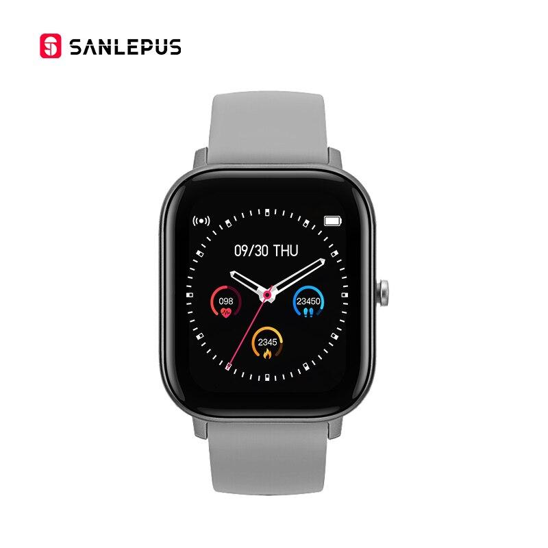 SANLEPUS Full Screen Touch Smart Watch Wristband Men Women Sport Watch Face Heart Rate Monitor Sleep Monitor IP67 Smartwatch