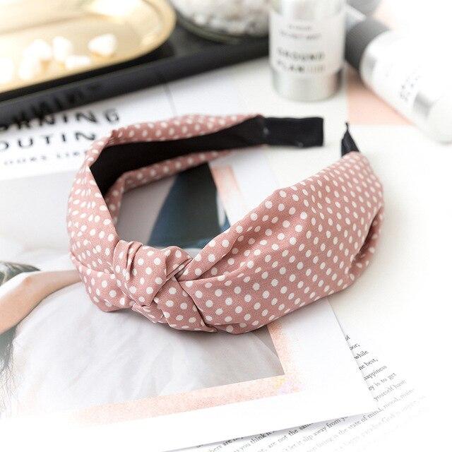Купить повязка для волос в горошек женская однотонный эластичный простой картинки цена