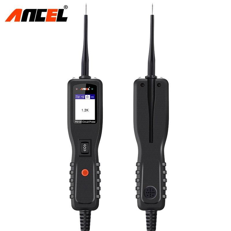 Ancel powerscan 12v auto testador de circuito do carro sistema elétrico ferramenta de diagnóstico super power probe carro ac dc tensão tester pb100