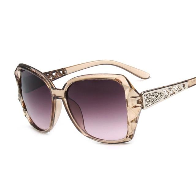 Fashion Square Sunglasses Luxury Brand Big Purple  4