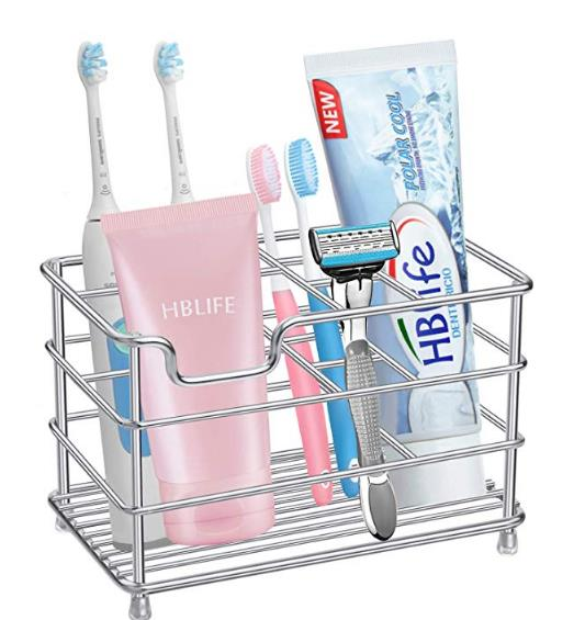 Electric Toothbrush Holder Large Stainless Steel Toothpaste Facial cleanser Holders Bathroom Accessories Organizer image