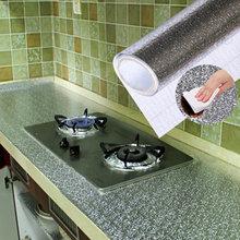 40x200cm Кухня маслостойкие водонепроницаемые наклейки алюминиевая