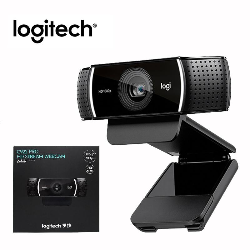Веб-камера Logitech C922 Pro HD 1080P с автофокусом и встроенным микрофоном