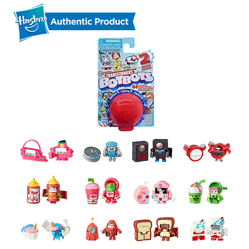 Hasbro <font><b>Transformers</b></font> 0.75-1.5 Inch Blind Box BotBots <font><b>Toys</b></font> Series Sugar Shocks <font><b>2</b></font> In 1 Collectible Figures Funny Transforming image