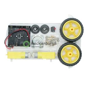 Image 2 - New Avoidance tracking Motor Smart Robot Car Chassis Kit Speed Encoder Battery Box 2WD Ultrasonic module For Arduino kit
