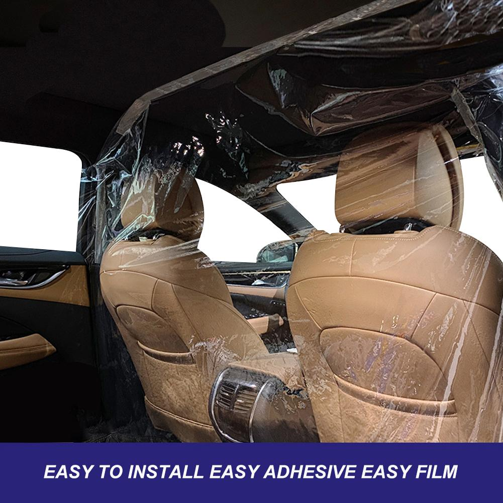 Car Protection Partition Screen Taxi Taxi Driver Cab Isolation Film Transparent Anti-droplet Protective Film Interior Protect