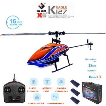 WLtoys Helicopters K127 2.4Ghz 4CH 6-Aixs Gyroscope Single Blade Propellor Gyro Mini RC Helicotper For Kids Gift RC Toys v911 1