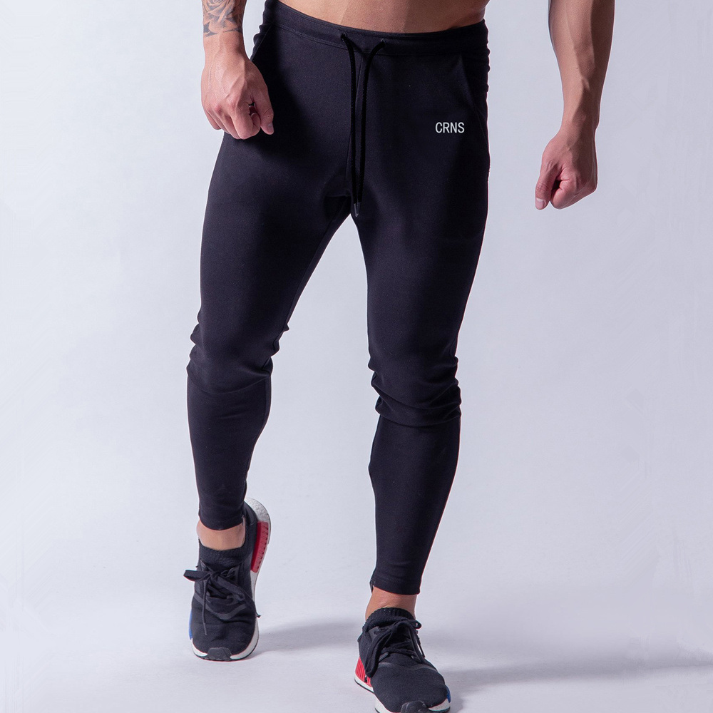 Black Casual Skinny Pants Joggers Cotton Sweatpants Men Gyms Fitness Workout Sportswear Trousers Autumn Male Crossfit Trackpants