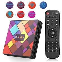 Android10.0 hk1cool caixa de tv rockchip rk3318 2,4g/5g duplo wifi bt4.0 rockchip rk3318 hk1 fresco h.265 youtube 4 k 1080 p med