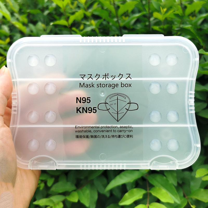 KN95 Mask Box Holder Storage Portable Antibacterial Box Organizer Wipe Tissue Container Anti-pollution Pill Box Splitters