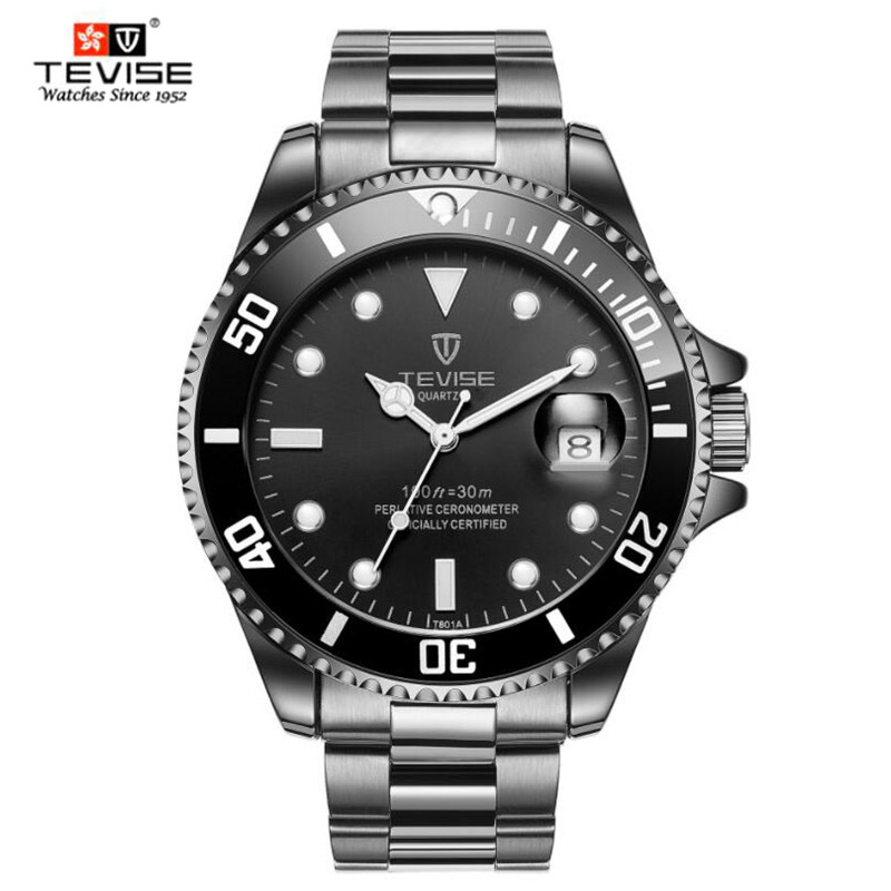Quartz Watch Men Business Watch Mens Watches Top Brand Luxury Clock Men Male Waterproof Calendar Relogio Masculino 2019