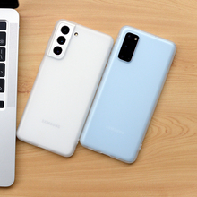 Luxe Matte Siliconen Telefoon Geval Voor Samsung Galaxy S20 Fe S21 S10 S9 S8 Plus Note 8 9 10 Pro 20 Ultra Transparante Soft Cover