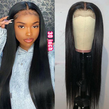 Rebecca 30 inch Wig Transparent Lace Closure Wig Straight Human Hair Wigs for Women 4x4 Closure Wig Long Straight Wig Remy Hair