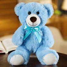 Новый цвет плюшевый мишка Милая бархатная игрушка медведь детский