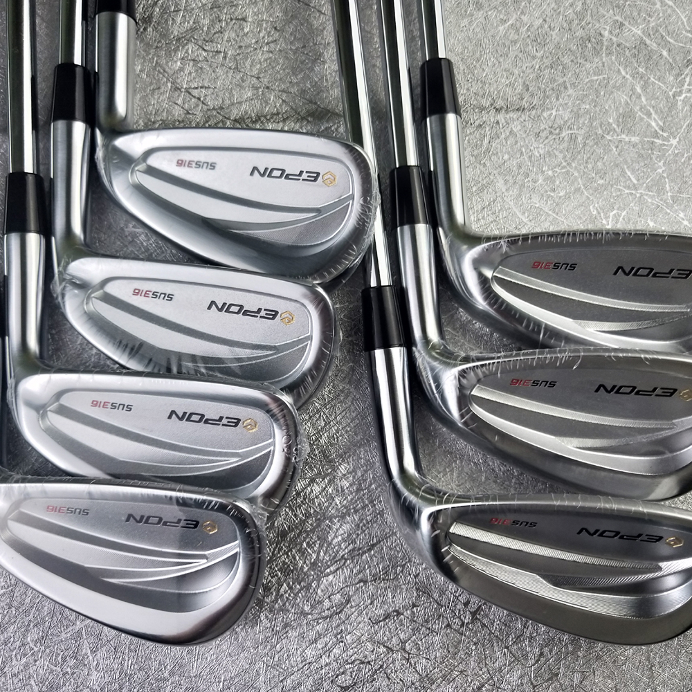 E-PON SUS-316 Golf Clubs Irons Sliver Golf Forged Iron 4-P A Set Of 7 Pieces R / S Send Headcover Free Shipping