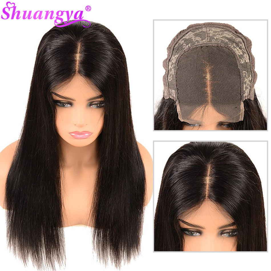 Lace Closure Human Hair Wigs For Black Women 5x5 4x4 Lace Closure Wig Malaysian Straight Lace Closure Wig With Baby Hair Remy