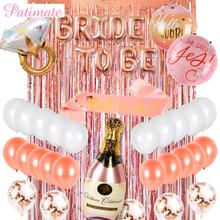 PATIMATE Rose Gold Foil Balloon Bride To Be  Hen Party Decoration Wedding Bridal Shower Decorations Bachelorette Supplies