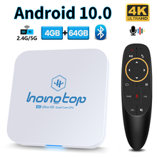 HONGTOP Android TV Box Android 10 2.4G&5.8G Wifi 4gb 64gb 4k 3D Bluetooth TV Receiver Media Player HDR+ High Quality Set Top Box