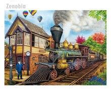 Поезд декорации diy 5d Алмазная вышивка крестиком на рисунке