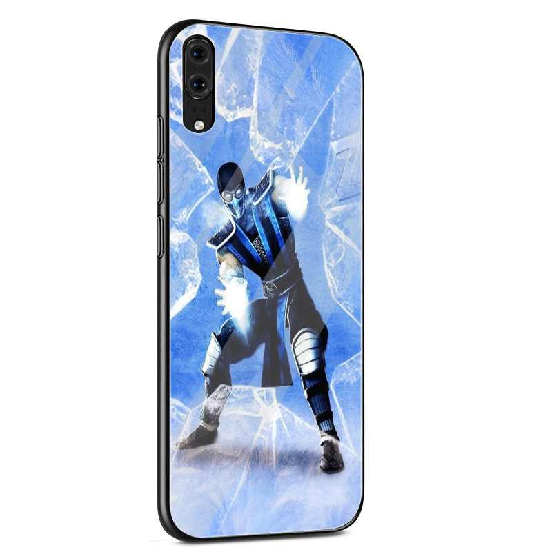 Desxz โทรศัพท์มือถือแก้วกรณี SCORPION Sub ZERO Mortal Kombat X สำหรับ Huawei P20 P10 Y6 7A Y9 Honor 8X9 10 Pro Lite