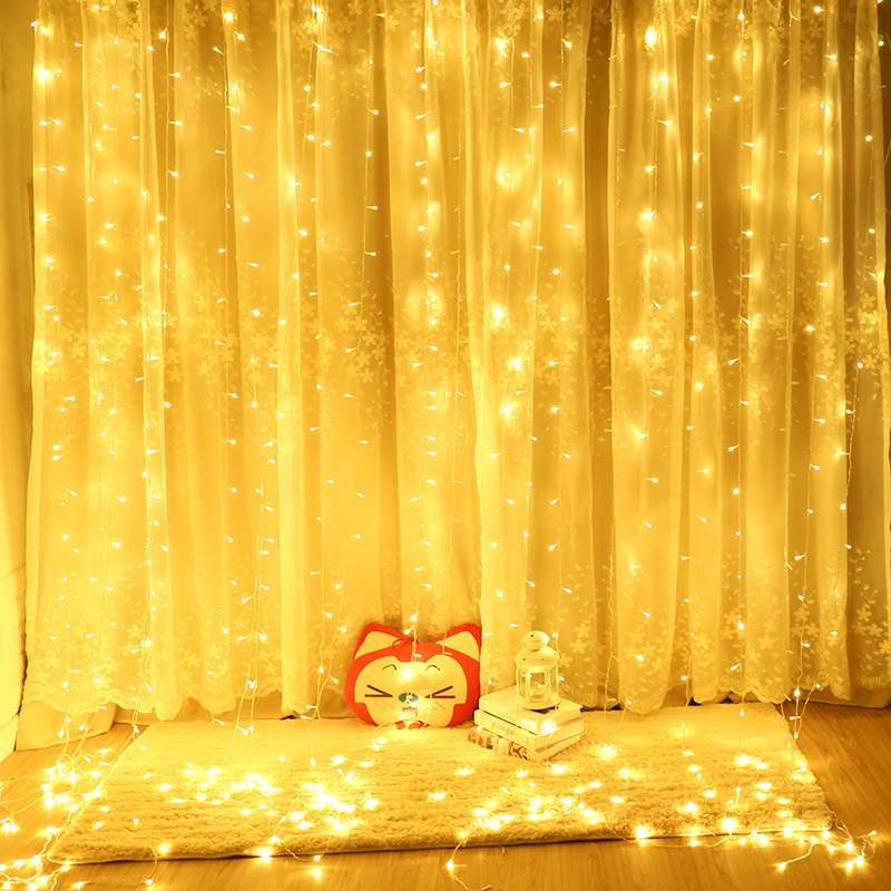 New Icicle Led Window Curtain Fairy String Light Fairy Light Led Christmas Light For Wedding Home Party Decor Holiday Lighting