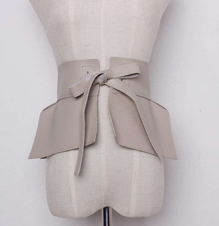 2020 New Spring Summer Faux Leather Ruffles Peplum Belt  Waistband Fashion Waist Skirt Women Accessories Tide All-match
