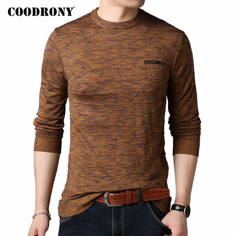 COODRONY Brand Sweater Men Spring Autumn New Arrival Pull Homme Soft Cotton Wool O-Neck Pullover Men Clothes Mens Sweaters C1040