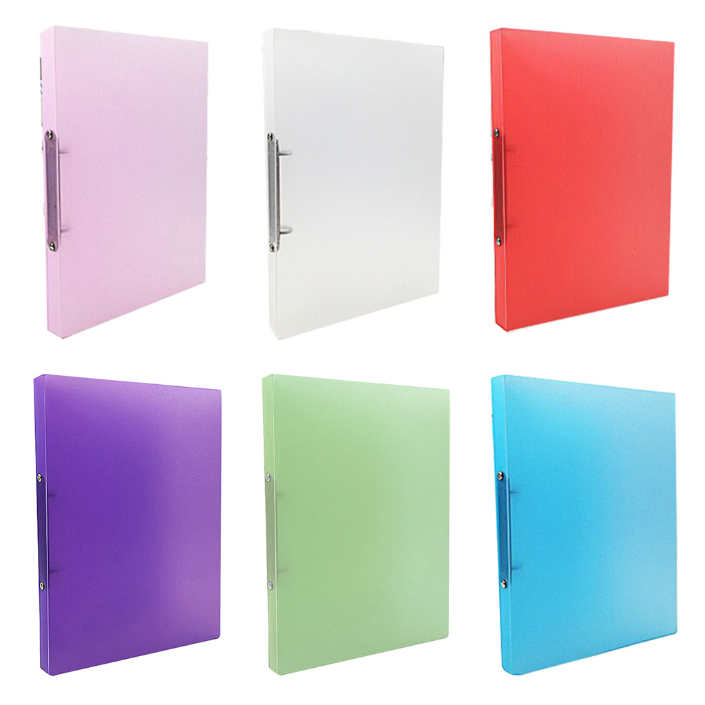 Durable and High Quality A4 Clip File Folder Transparent Candy Color Loose Leaf Binder Storage Organizer School Office Supply