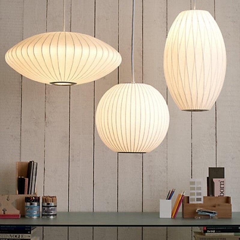 Japonais soie Lustre éclairage Simple chinois magasin scandinave éclairage suspension lampe décor maison Luminaire lampara Lustre