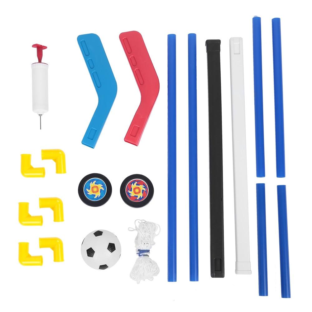 8pcs/set Kids Child Ice Hockey Stick Training Tools Kids Sports Soccer & Field Hockey Goals With Balls And Pump Toy Set Football