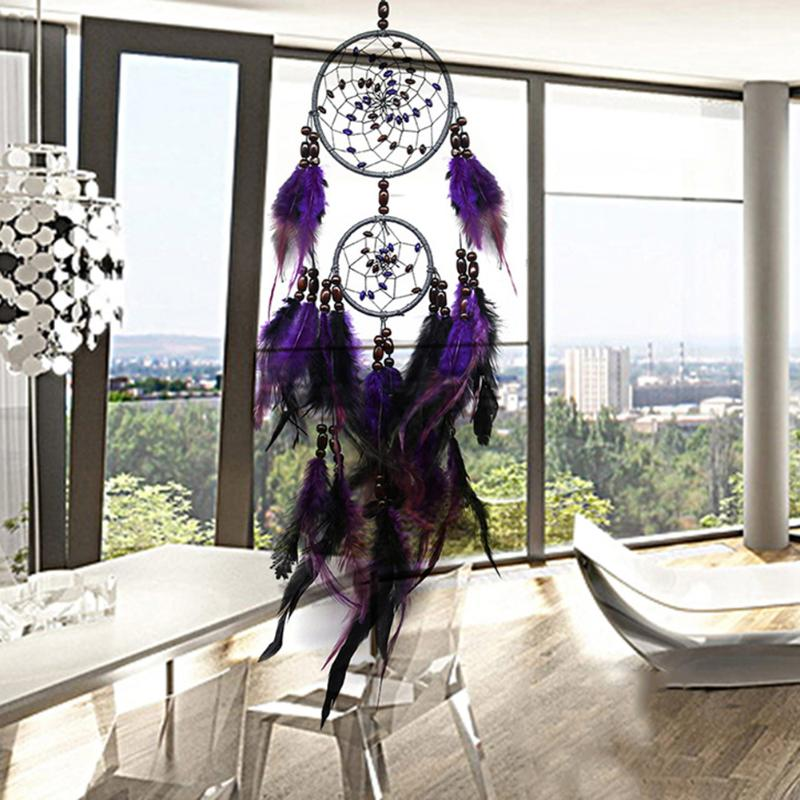 Purple Feather Dream Catchers Feathers Wall Hanging Nordic Room Car Home Decor Hunter Substance Dreamcatcher Ornament Hot Sale