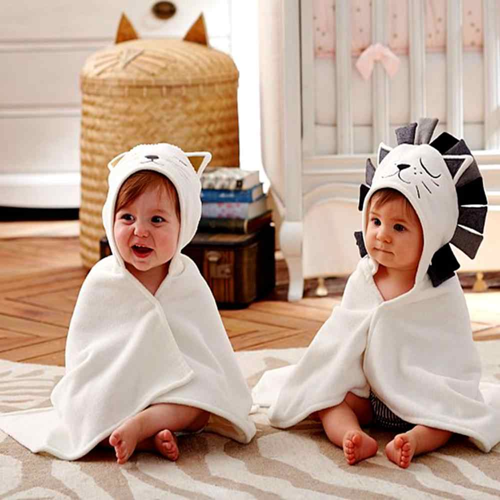 Newborn Baby Cotton Towel for Kids Stuff Baby Bath Towel Babies Hooded Poncho Infant Beach Spa Blanket 100% Cotton Towels