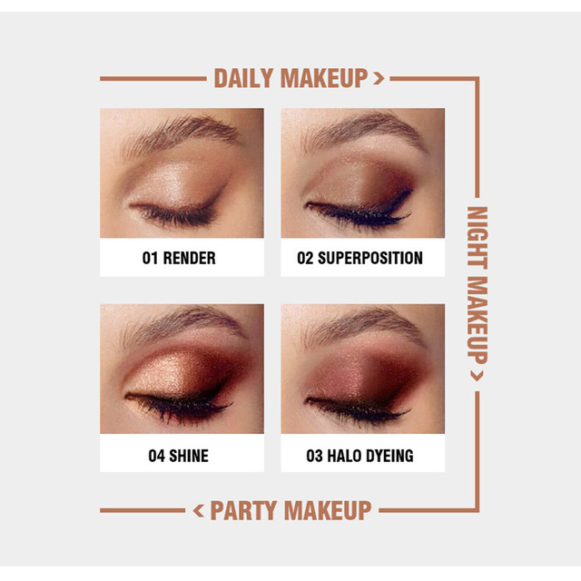 Korea Cosmetic Matte Eye Shadow 9 Colors Make Up Set Nudes Pallete Eyeshadow Palette Wholesale Fashionable Shimmer Eyeshadow 5