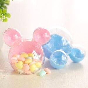Image 2 - 24 sztuk/partia pudełko cukierków czekoladowych opakowania Baby Shower pudełko cukierków plastikowe wesele dzieci Birthday party cukierki pudełka