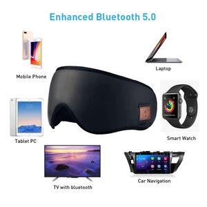 Image 2 - JINSERTA 3D sans fil Bluetooth casque doux sommeil masque pour les yeux stéréo musique casque avec micro Support mains libres pour Smartphone
