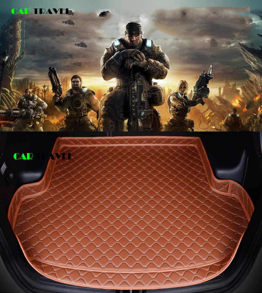 custom car trunk mat for Skoda all models octavia fabia superb kodiaq rapid yeti car styling auto accessories