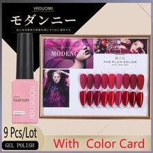 Лидер продаж 15 мл набор гель лаков для ногтей цвет сливы Модный