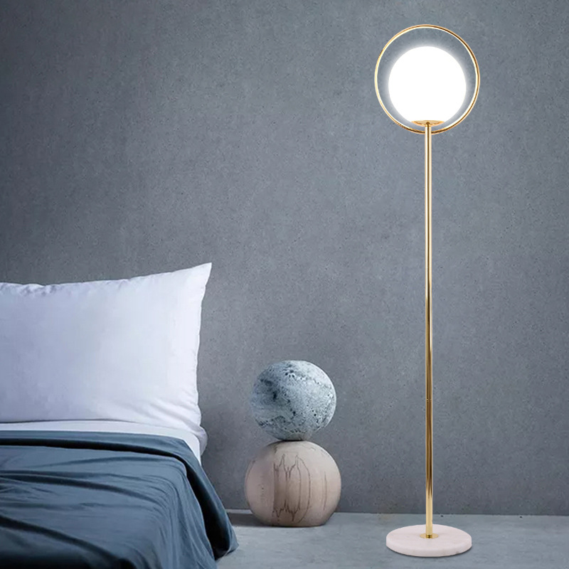 Gl Ball Living Room Floor Lamp