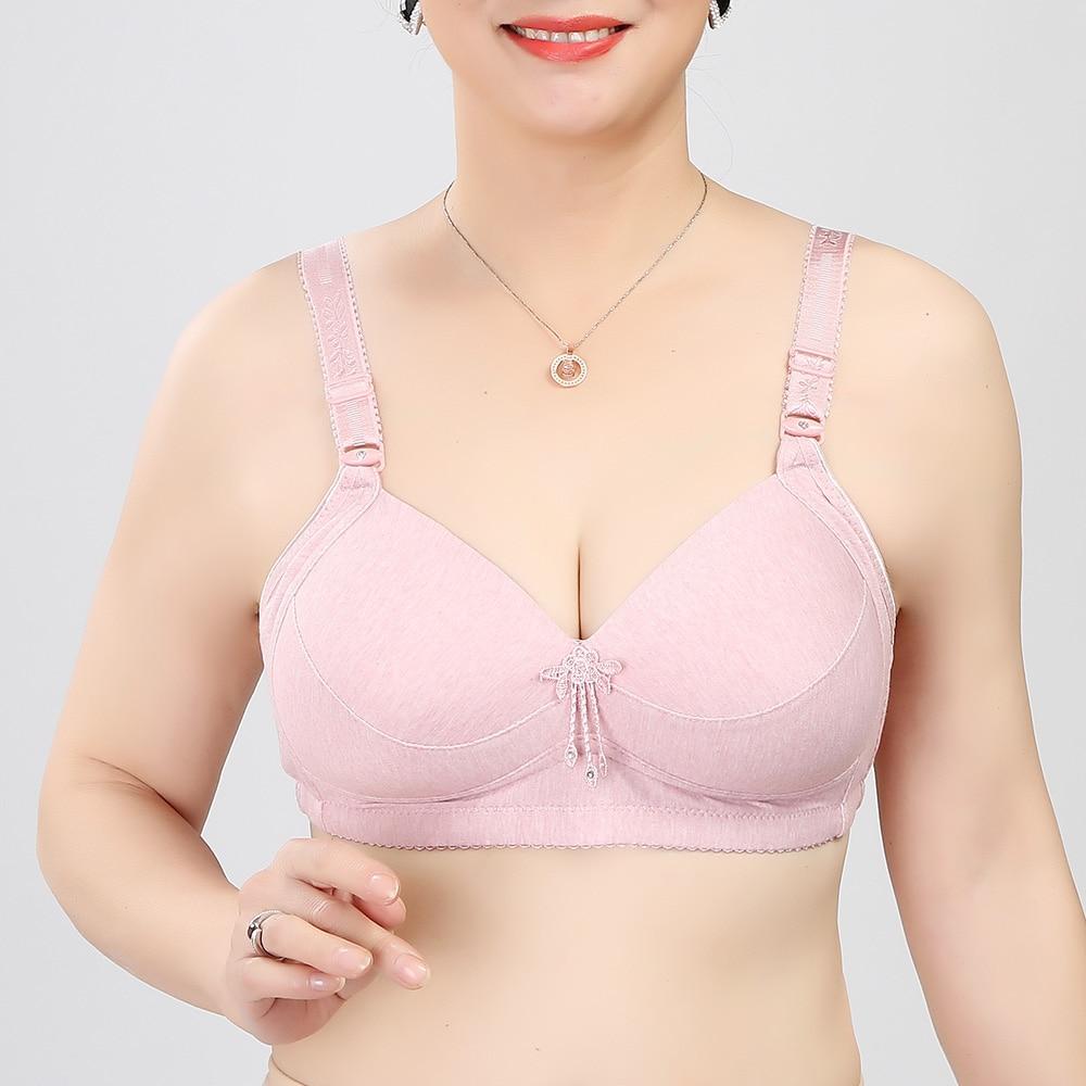 Womens Lingerie Push Up Bra Wireless Light Padded Cotton Underwear 36-46AA A B C