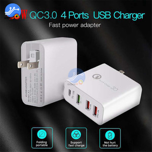 Image 5 - 4 Port USB Charger QC3.0 Quick Charg for iPhone Samsung 48W Phone Universal Fast Charge Wall Adapter US EU UK AU Plug
