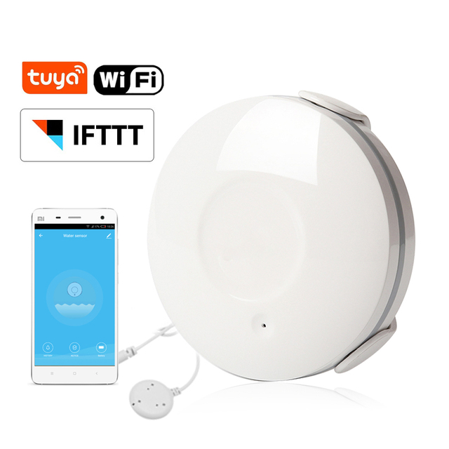 Tuya Smart Life WiFi Water Flood Sensor Water Leakage Detector Alarm Compatible IFTTT