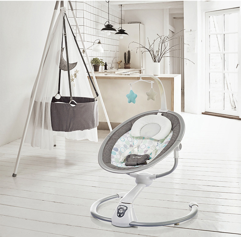 Babyinner Electric Baby Rocking Chair Bassinet Newborn with Mosquito Kids Swing 360 Degrees Rotatable Cradle Baby Babyinner Electric Baby Rocking Chair Bassinet Newborn with Mosquito Kids Swing 360 Degrees Rotatable Cradle Baby Sleeping Bed