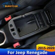 Xburstcar עבור Jeep Renegade 2015 2016 2017 2018 2019 2020 רכב ABS מרכזי תיבת משענת רכב מרכז קונסולת זרוע שאר תיבת תא כפפות